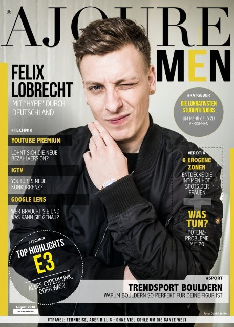 AJOURE´ Men Magazin August 2018