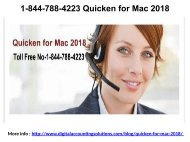 1-844-788-4223 Support for Quicken Customer Care Number