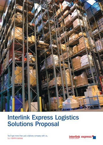 Download our Logistic Solutions guide (PDF, 2.2MB - Interlink Express