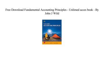 Fundamental accounting principles 22nd edition by wild shaw and free download fundamental accounting principles populer ebook by john j wild fandeluxe Choice Image