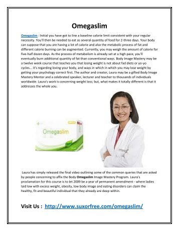 Omegaslim - Suppress Your Appetite & Boost Your Metabolism!