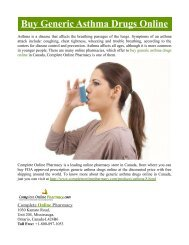 Buy Generic Asthma Drugs Online