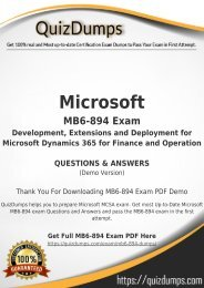MB6-894 Exam Dumps - Get MB6-894 Dumps PDF [2018]