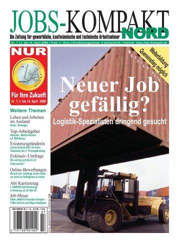 Logistik-Spezialisten dringend gesucht - Jobs-Kompakt