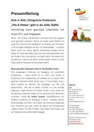 """Erfolgreiche Kinderserie """"Peb & Pebber"""" - Plattform Ernährung und ..."""