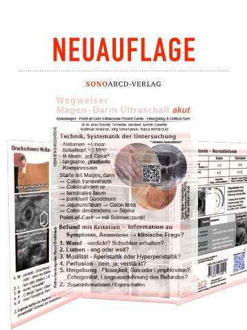Im Druck! Wegweiser Magen-Darm Ultraschall akut