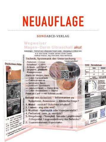 Vorankuendigung Wegweiser Magen-Darm Ultraschall akut