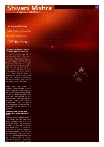 Indian Escorts in Doha +971588278565 shivan mishra  Indian Independent Escort in Doha.