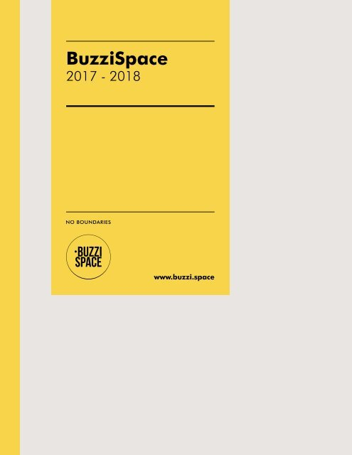 WEMA RaumKonzepte: BuzziSpace - Pocketcatalog 17/18