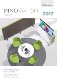 WEMA RaumKonzepte: Kindermann - Innovation Highlights 2017