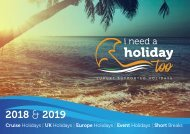 I NEED A HOLIDAY TOO - SUPPORTED WHEELCHAIR ACCESSIBLE HOLIDAYS 2018/2019