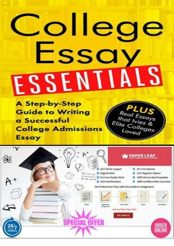 2018 Helpful Guide College Essay Writing by Paper Leaf.ca