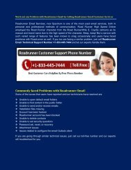 Roadrunner Email Tech Support Number +1-833-445-7444