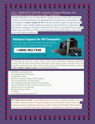 Call +1(888) 963-7228 HP Computer Support Number For HP(Hewlett-Packard) repair help, California.output