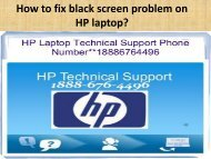 How to fix black screen problem on HP laptop