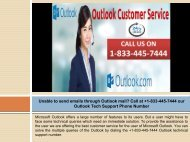 Resolve Any Outlook Issues By Calling +1-833-445-7444 Outlook Technical Support Number