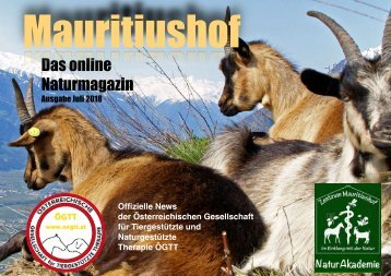 Mauritiushof Naturmagazin Juli 2018