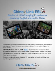 Experiences of Teaching English Abroad in China Are Being Described as Transformational