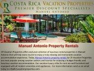 Manuel Antonio Property Rentals