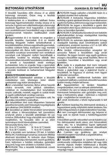 KitchenAid ZS 12 A1 D/HA - ZS 12 A1 D/HA HU (F101682) Consignes de sécurité