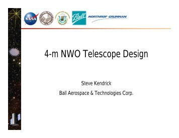 4-m NWO Telescope Design - New Worlds
