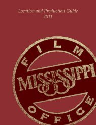 Location and Production Guide 2011 - Mississippi