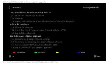 Sony KDL-40Z5810 - KDL-40Z5810 Consignes d'utilisation Italien