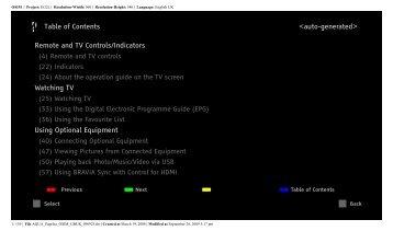 Sony KDL-40Z5810 - KDL-40Z5810 Consignes d'utilisation Anglais