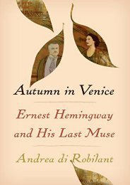 [PDF] Download Autumn in Venice: Ernest Hemingway and His Last Muse Full