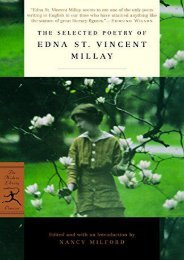 Download PDF Mod Lib Selected Poetry Of Edna St Vincent (Modern Library) Full