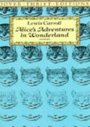 Download PDF Alice in Wonderland (Dover Thrift Editions) Full