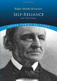 Download PDF Self Reliance (Dover Thrift Editions) Full