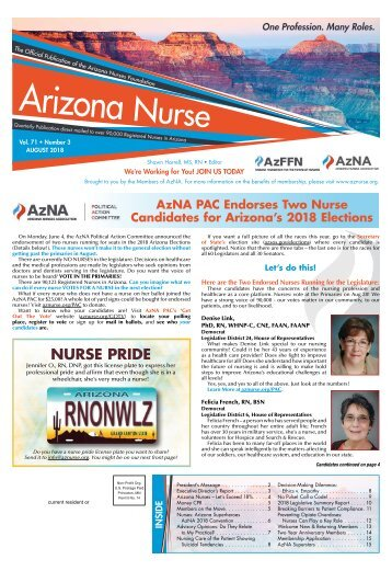 Arizona Nurse - August 2018