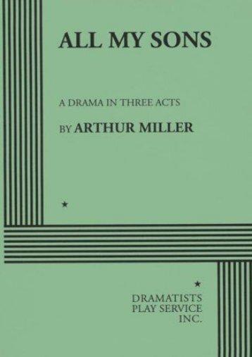 Download PDF All My Sons: A Drama in Three Acts Online