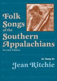 Download PDF Folk Songs of the Southern Appalachians Full