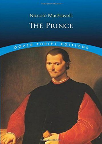 [PDF] Download The Prince (Dover Thrift Editions): 8 Online