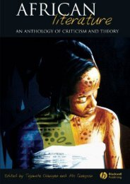 Download PDF African Literature: An Anthology of Criticism and Theory Online