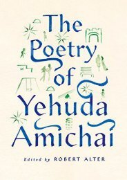 Download PDF The Poetry of Yehuda Amichai Full