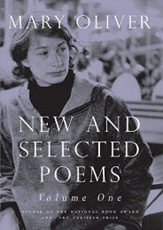[PDF] Download New and Selected Poems, Volume One: v. 1 Full
