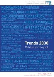 Trends 2030 - Mobilität und Logistik - InnoZ