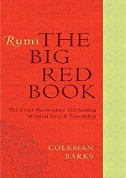 [PDF] Download Rumi: The Big Red Book: The Great Masterpiece Celebrating Mystical Love and Friendship (Rough Cut) Online