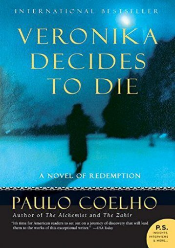 [PDF] Download Veronika Decides to Die: A Novel of Redemption Online