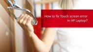 Fix Touch screen error of HP Laptop online