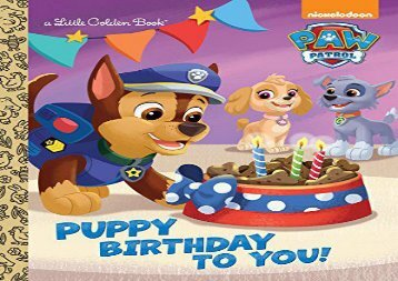 [+][PDF] TOP TREND Puppy Birthday to You! (Paw Patrol) (Little Golden Book) [PDF]