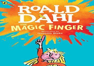 [+]The best book of the month The Magic Finger  [NEWS]