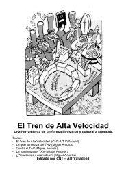El tren de Alta Velocidad y sus consecuencias