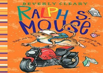 [+]The best book of the month Ralph S. Mouse (Ralph Mouse)  [FREE]