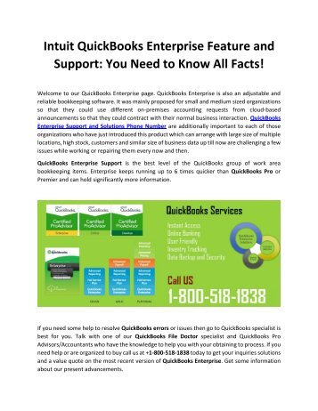 QuickBooks Enterprise Support for Technical Solution