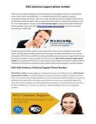 AVG technical support phone number
