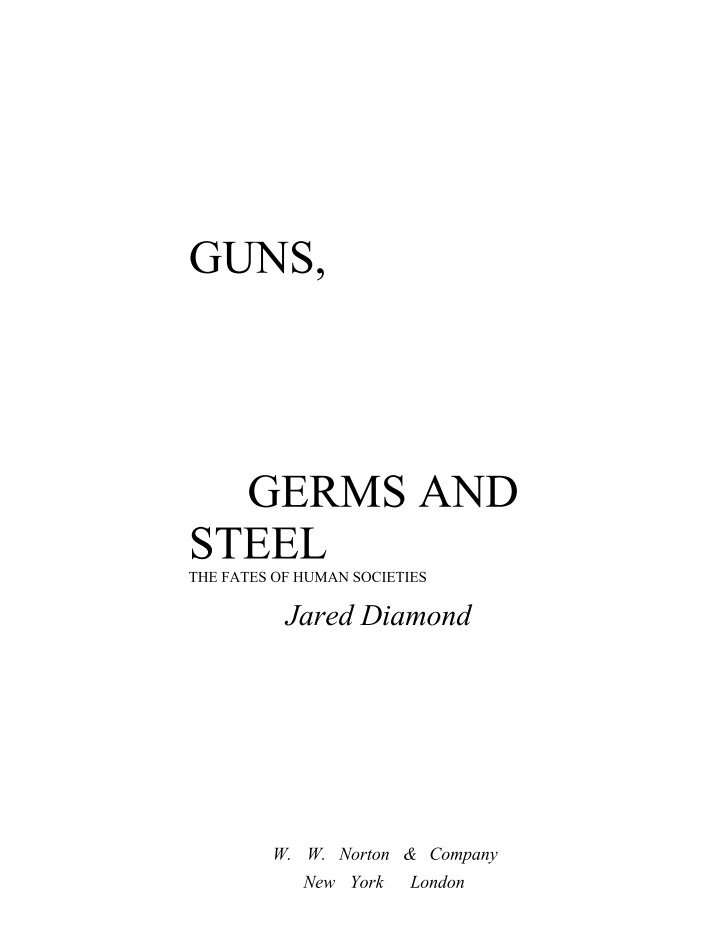 guns germs and steel episode 3 into the tropics Guns, germs, and steel: episode 3 directions: before viewing the film, read each question below so you know what information and ideas you should be looking for as.